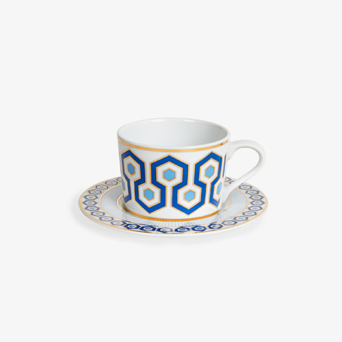 ┃JONATHAN ADLER┃ NEWPORT TEA CUP AND SAUCERblue