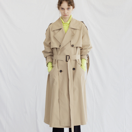 ┃HACER SEOUL┃ 17 FALL OVERSIZED TRENCH COATbeige