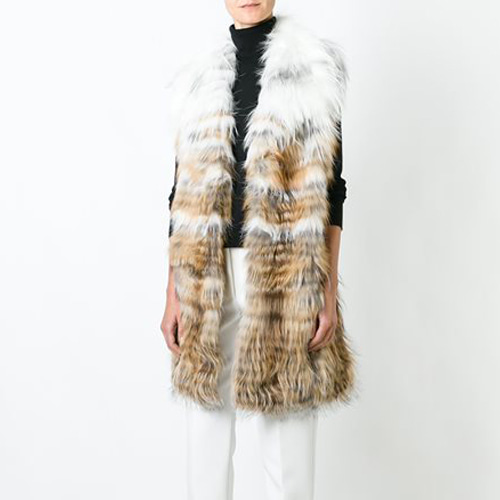 ┃YVES SALOMON ┃ FOX LONG VEST DEGRADE