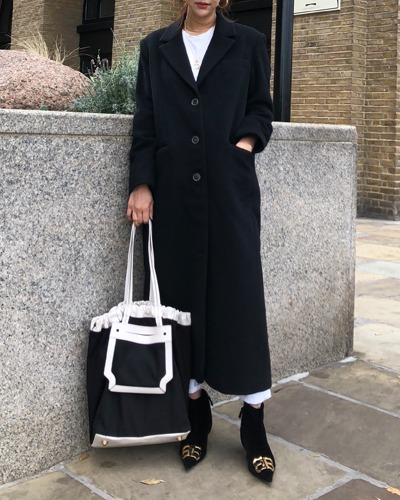 JO5xFROU wool coat Black