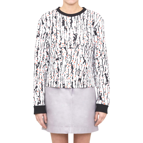 ┃CARVEN┃ PRINTED SWEATSHIRTIN BLACK/WHITE