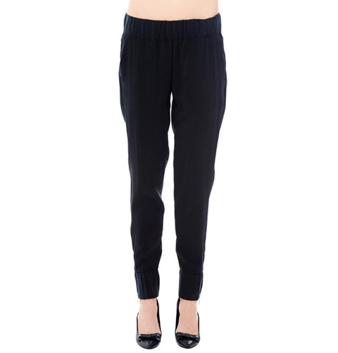 ┃ANINE BING┃ RELAXED FIT PANTblack