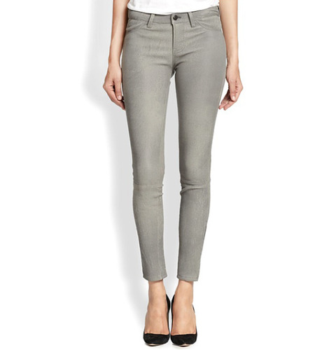 [J brand]Leather super skinnyin Grey rock
