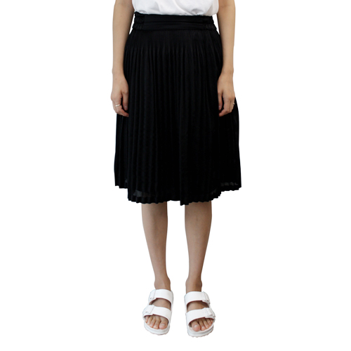┃CLU┃PLEATED SKIRTblack