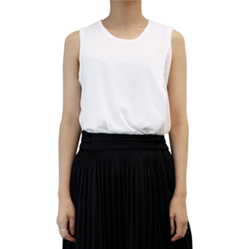 ┃CLU┃SILK PLEATED SHORTSLEEVE TOPwhite