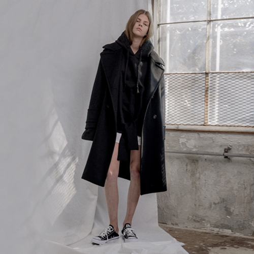 ┃HACER SEOUL┃ 16 WINTER BASIC DOUBLE COATgray, black