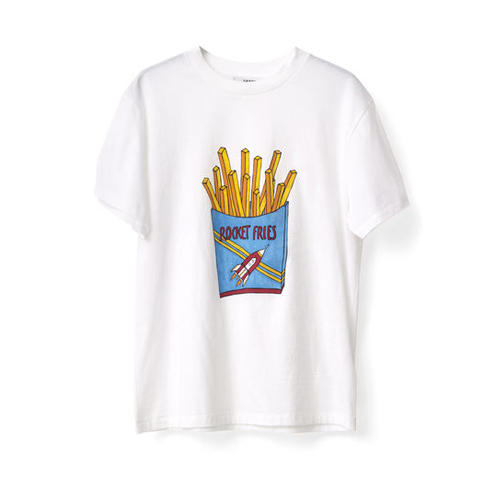 ┃GANNI┃ BERKELEY T-shirt ROCKET FRIESbright white