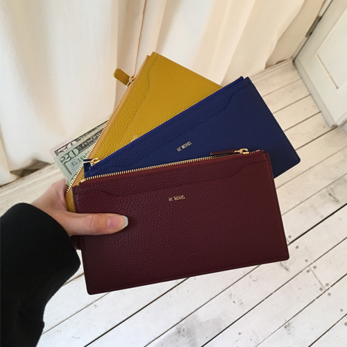 ┃DE MERIEL┃ WIDE PURSEyellow, blue, wine