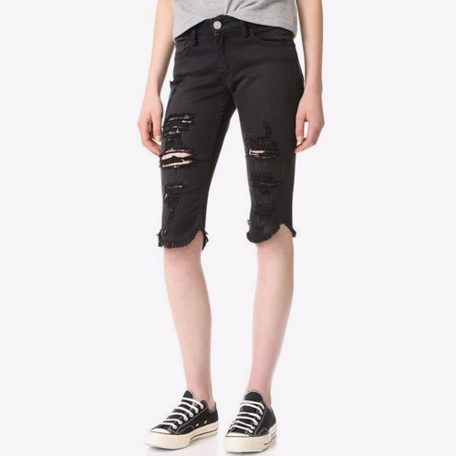 ┃ETIENNE MARCEL┃ DESTROY FRAY SHORTS black