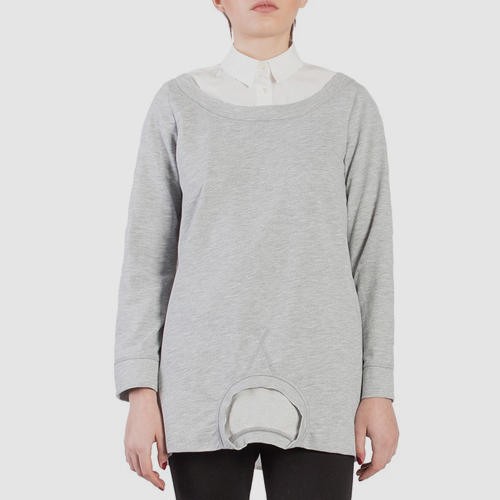 ┃SEMICOUTURE┃ KELVIN SWEATSHIRTgray+white
