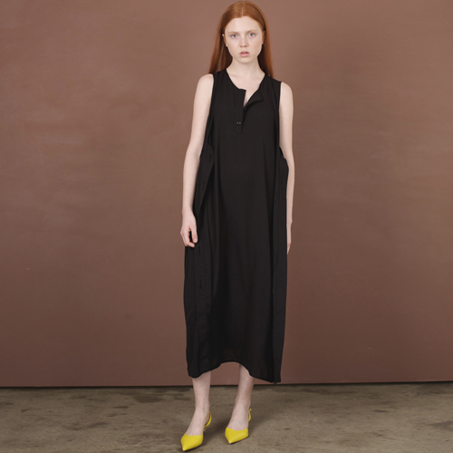 ┃HACER SEOUL┃ 17 SUMMER 2-WAY SLEEVELESS DRESSblack