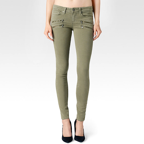 [Paige]Edgemont ultra skinnyin fatigue green