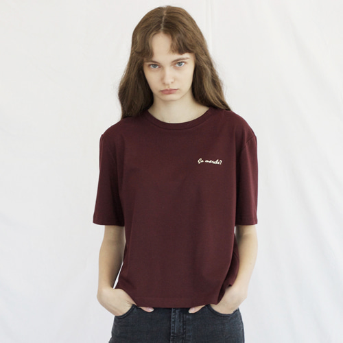 ┃HACER SEOUL┃ 17 FALL LOOSE FIT SHORT T-SHIRT2color