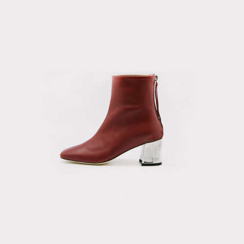 ┃LANE.910┃ LG1 - SB005 SQUARE ANKLE BOOTSburgundy