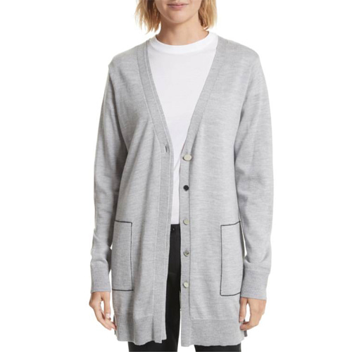 ┃GREY JASON WU┃ DOUBLE PLACKET CARDIGANtin grey