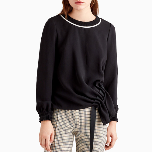 ┃GREY JASON WU┃ LONG SLEEVE TOP ASYMMETRICALblack