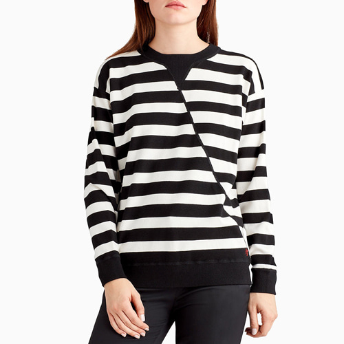 ┃GREY JASON WU┃ STRIPE OVERSIZED KNIT SWEATER stripe
