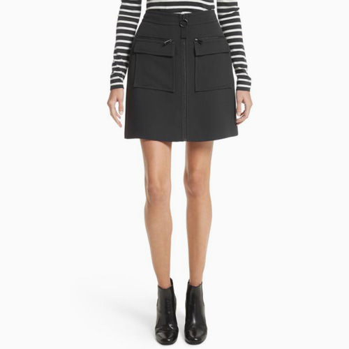 ┃GREY JASON WU┃ CREPE MINI SKIRT WITH POCKET DETAIL black