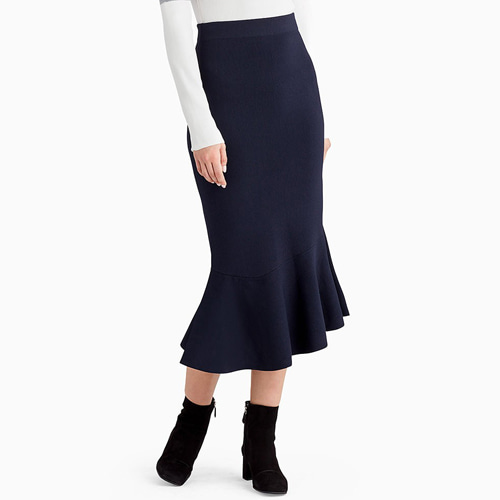 ┃GREY JASON WU┃ FLIPPY MAXI SKIRTmidinight