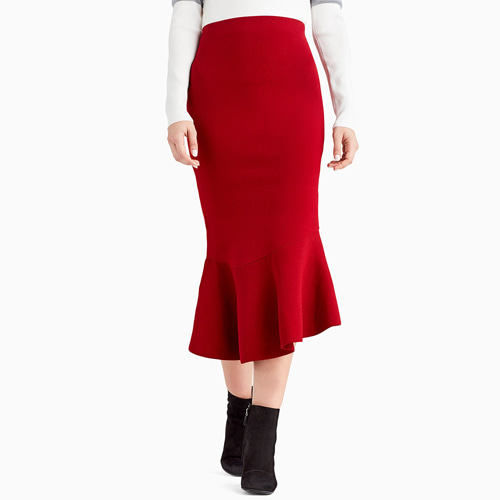 ┃GREY JASON WU┃ FLIPPY MAXI SKIRTsandy red
