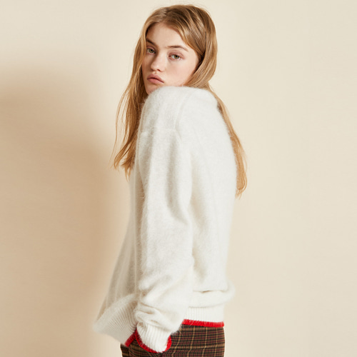 ┃CLUE DE CLARE┃ OVERSIZE ANGORA KNIT2color