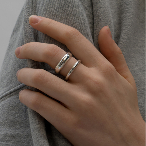 ┃NINETEEN TWO┃ STRIPE RINGsilver, gold