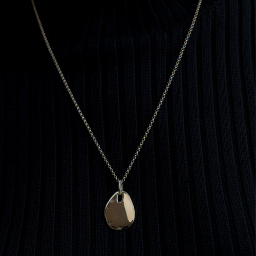 ┃NINETEEN TWO┃ PEBBLE NECKLACEsilver, gold