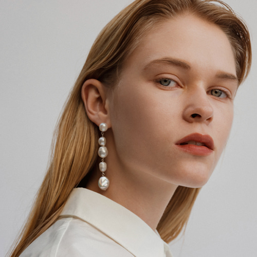 ┃NINETEEN TWO┃ BAROQUE PEARL DROP EARRINGpearl