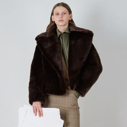 ┃MAISON MARAIS┃ FAUX FUR JACKET2color