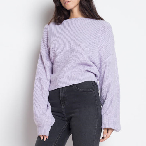 ┃ETOPHE STUDIOS┃ BACK POINT KNITbeige, lilac