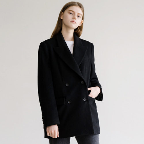 ┃HACER SEOUL┃ 17 WINTER WOOL DOUBLE JACKETblack