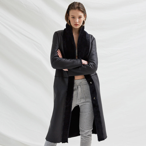 ┃BLUSHED┃ MERINO REVERSIBLE COATdark navy