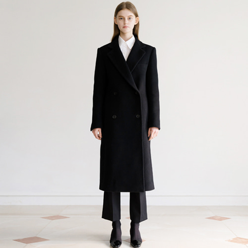 ┃HACER SEOUL┃ 17 WINTER MANISH STRAIGHT COATblack