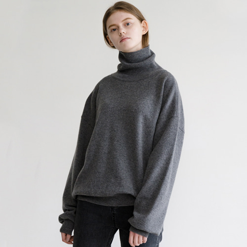 ┃HACER SEOUL┃ 17 WINTER HIGH NECK PUFF SLEEVE KNITgrey