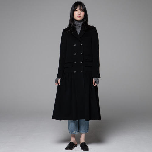┃JO5┃ LONG DRESS COATblack