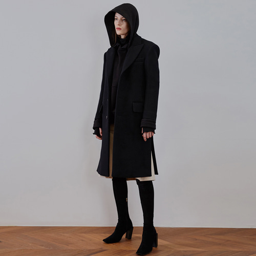 ┃MAISON MARAIS┃ SINGLE WOOL COATblack