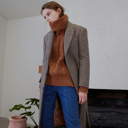 ┃MAISON MARAIS┃ SINGLE WOOL COATcheck