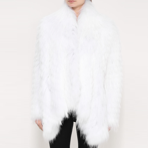 ┃YVES SALOMON ┃ RACCOON FUR JACKETwhite