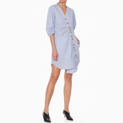 ┃TIBI┃ JONES STRIPED SHIRTDRESSblue multi
