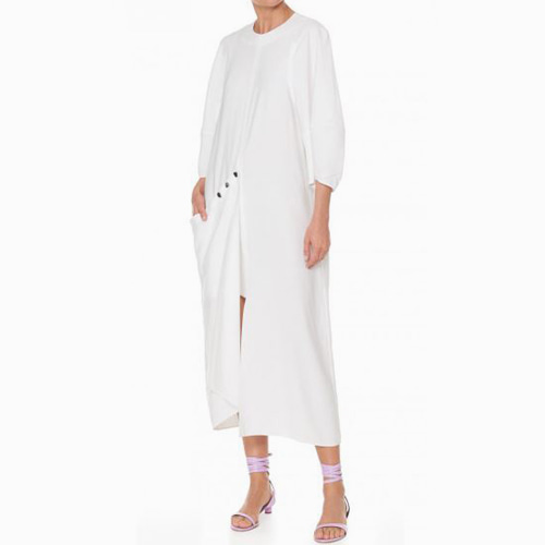 ┃TIBI┃ WASHED VISC.LONG DRESSwhite