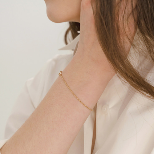 ┃NINETEEN TWO┃ GOLDFILLED RING BRACELET gold