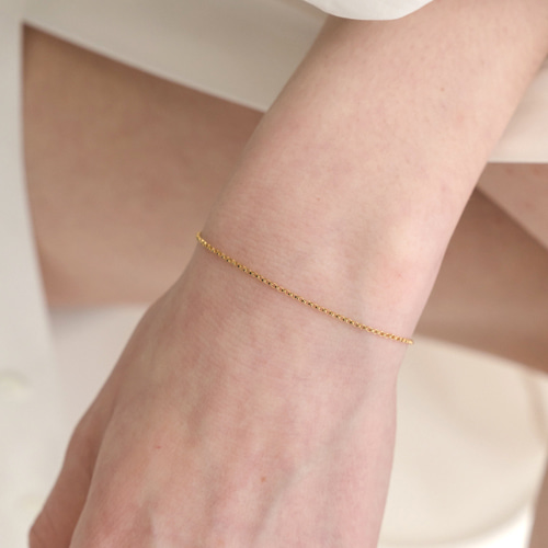 ┃NINETEEN TWO┃ GOLDFILLED LINK CHAIN BRACELET gold