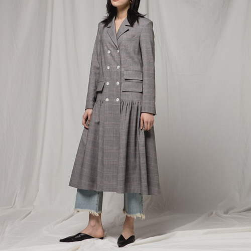 ┃JO5┃ LONG JACKET DRESSglencheck