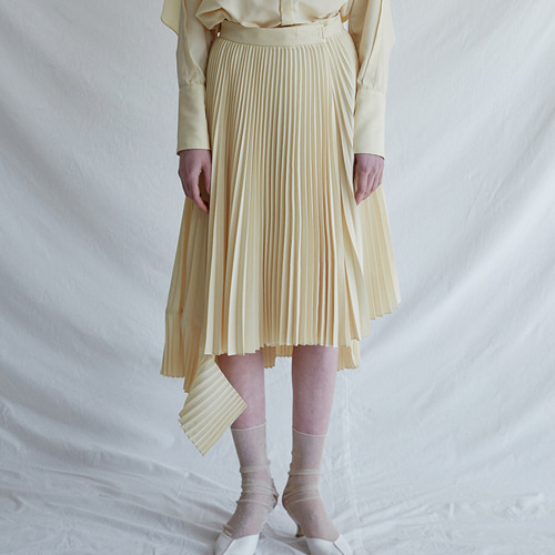 ┃MAISON MARAIS┃ PLEATS SNAP SKIRTrose pink, lemon