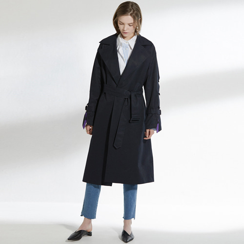 ┃CLUE DE CLARE┃ PLACKET SLEEVE TRENCH beige, navy