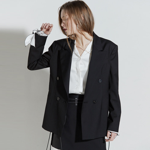 ┃CLUE DE CLARE┃ CORSET JACKET black, check