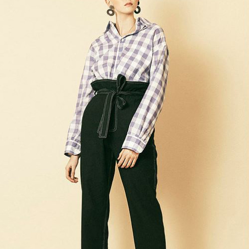 ┃HOUSE OF SUNNY┃ 802 SHIRTlavender gingham