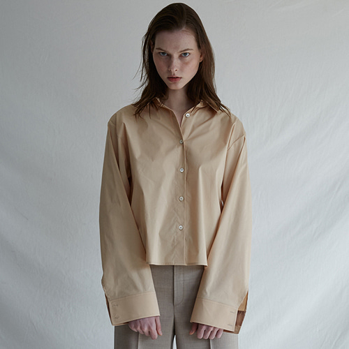 ┃MAISON MARAIS┃ TWO WAY OPEN SHIRTSpink,beige