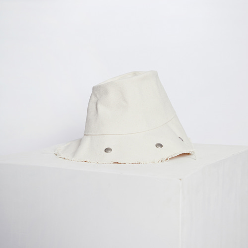 ┃MAISON MARAIS┃ TWO WAY BUCKET HAT cream