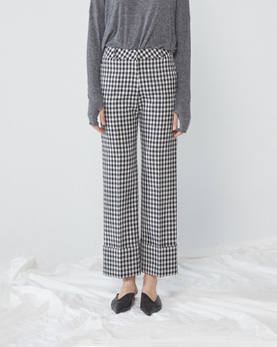 JO5 cuffs pants gingham check